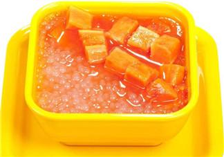 秋燥降火自制椰汁木瓜西米露 妈妈宝宝都爱吃!