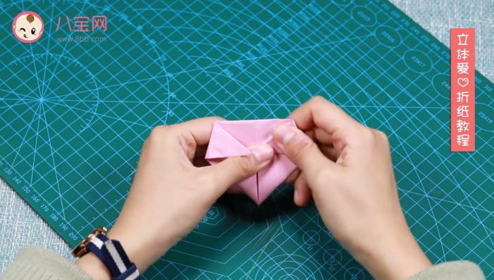 立体爱心折纸视频教程 立体爱心折纸制作方法